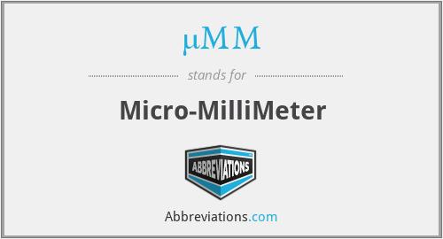 µMM - Micro-MilliMeter