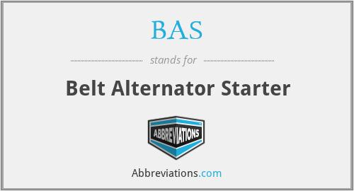 BAS - Belt Alternator Starter