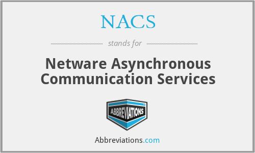 NACS - Netware Asynchronous Communication Services