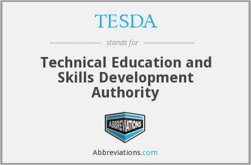 What does TESDA stand for?
