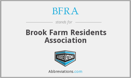 BFRA - Brook Farm Residents Association