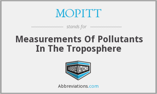 MOPITT - Measurements Of Pollutants In The Troposphere Traces