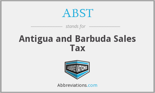 ABST - Antigua and Barbuda Sales Tax