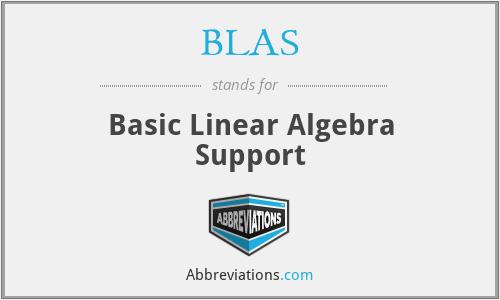 BLAS - Basic Linear Algebra Support