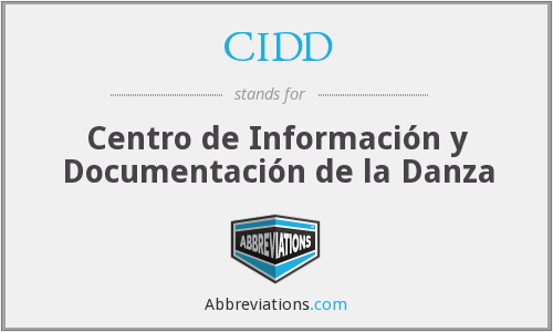 What does CIDD stand for?