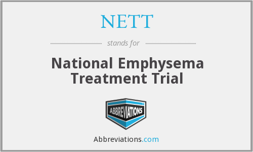 NETT - National Emphysema Treatment Trial