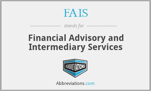 FAIS - Financial Advisory and Intermediary Services