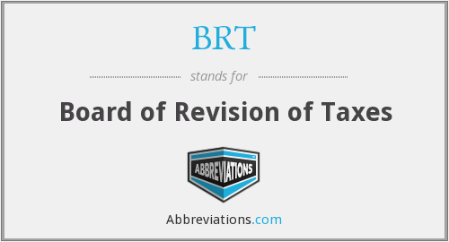 BRT - Board of Revision of Taxes