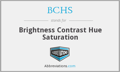 BCHS - Brightness Contrast Hue Saturation