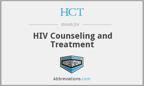 HCT - HIV Counseling and Treatment
