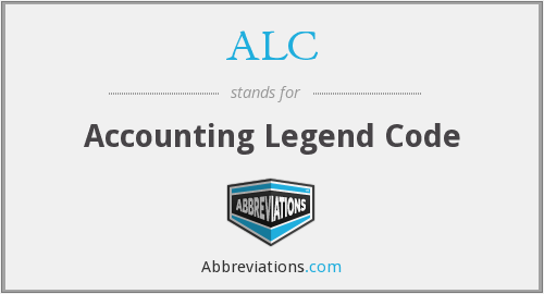 ALC - Accounting Legend Code
