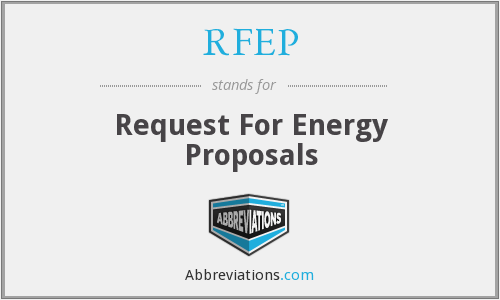 RFEP - Request For Energy Proposals