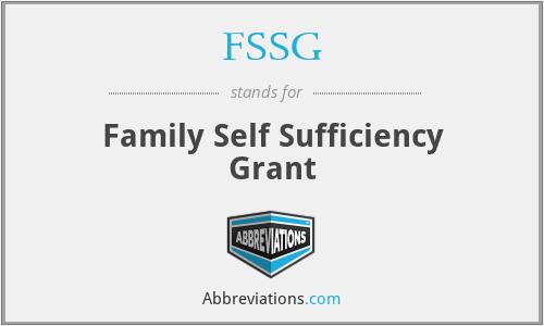 FSSG - Family Self Sufficiency Grant