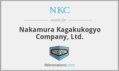 NKC - Nakamura Kagakukogyo Company, Ltd.