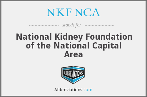 What does NKF NCA stand for?