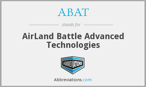 ABAT - AirLand Battle Advanced Technologies