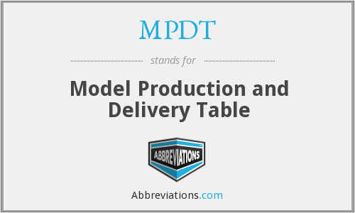 What does MPDT stand for?