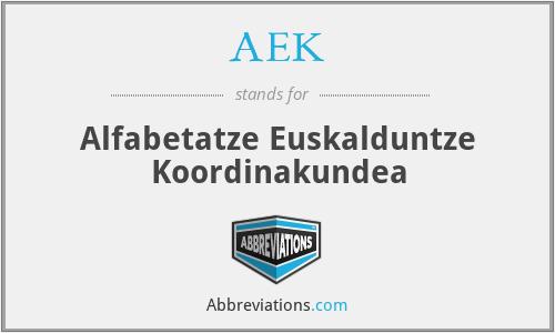 AEK - Alfabetatze Euskalduntze Koordinakundea