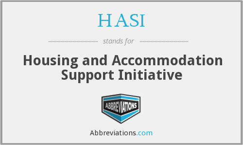 What does HASI stand for?