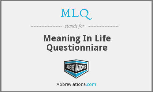MLQ - Meaning In Life Questionniare