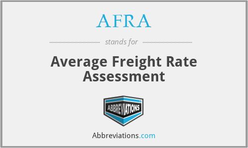 AFRA - Average Freight Rate Assessment
