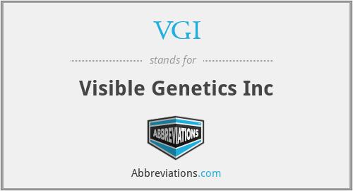 VGI - Visible Genetics Inc