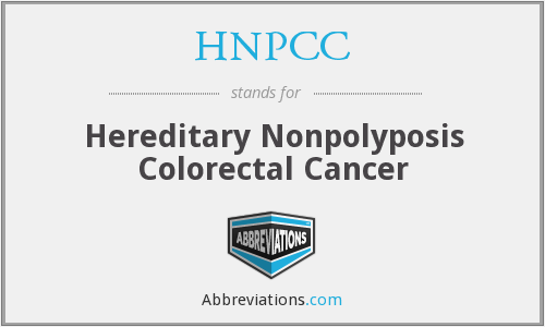 What does HNPCC stand for?