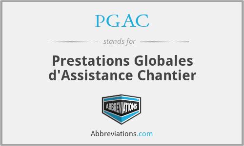 PGAC - Prestations Globales d'Assistance Chantier