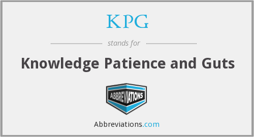 KPG - Knowledge Patience and Guts