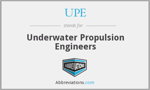 UPE - Underwater Propulsion Engineers