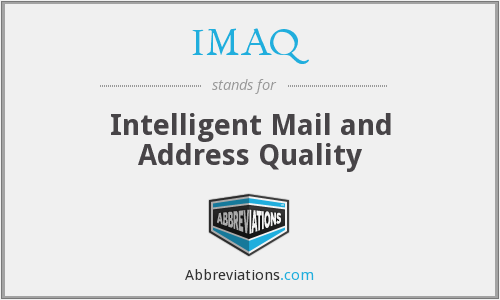 IMAQ - Intelligent Mail and Address Quality
