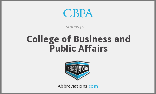 CBPA - College of Business and Public Affairs
