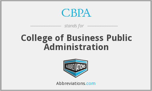 CBPA - College of Business Public Administration