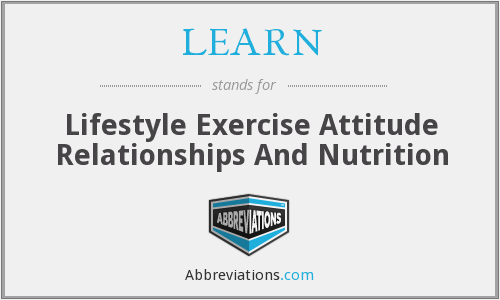 LEARN - Lifestyle Exercise Attitude Relationships And Nutrition