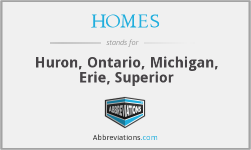 HOMES - Huron, Ontario, Michigan, Erie, Superior