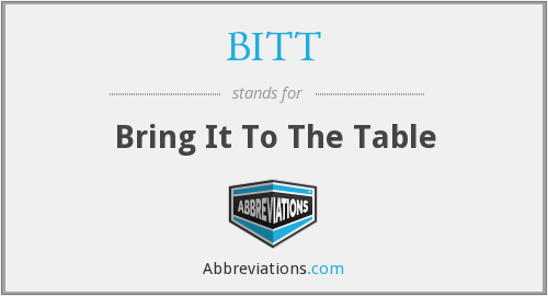 What does BITT stand for?