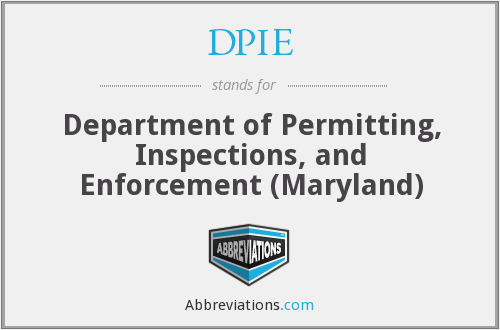 DPIE - Department of Permitting, Inspections, and Enforcement (Maryland)