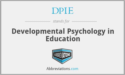 DPIE - Developmental Psychology in Education