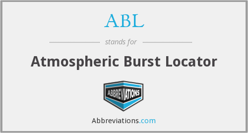 ABL - Atmospheric Burst Locator