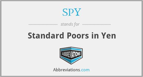 SPY - Standard Poors in Yen