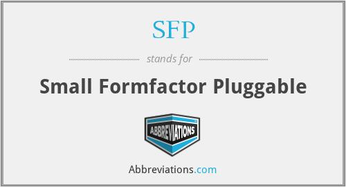 SFP - Small Formfactor Pluggable