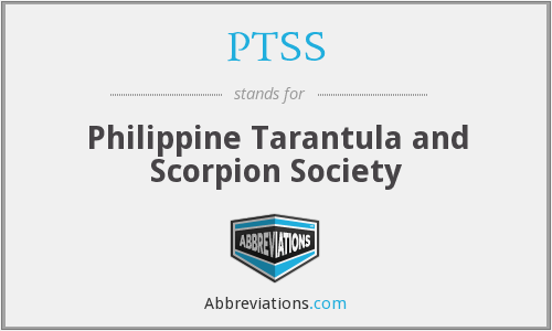PTSS - Philippine Tarantula and Scorpion Society