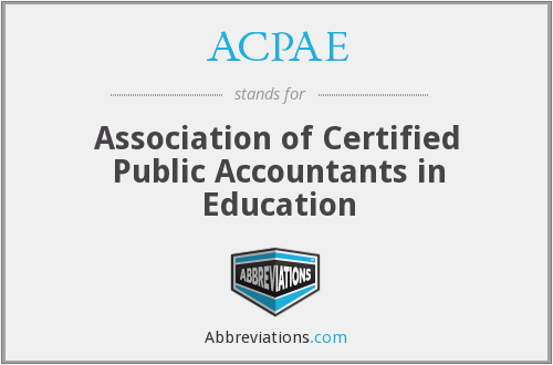 What does ACPAE stand for?