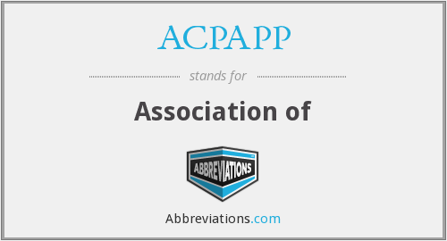 What does ACPAPP stand for?