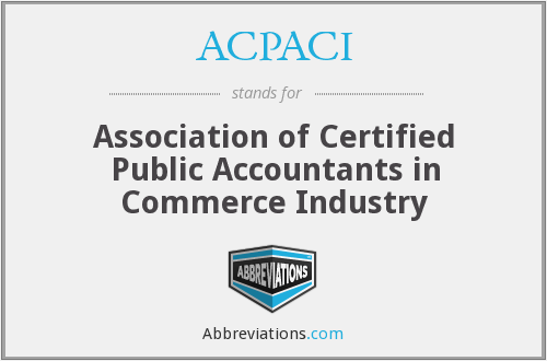 ACPACI - Association of Certified Public Accountants in Commerce Industry