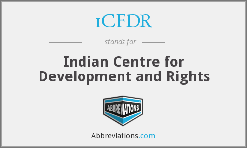 iCFDR - Indian Centre for Development and Rights