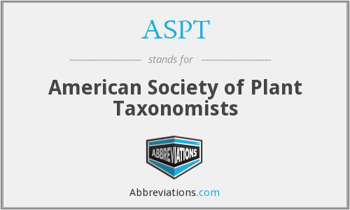 ASPT - American Society of Plant Taxonomists