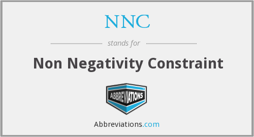 NNC - Non Negativity Constraint