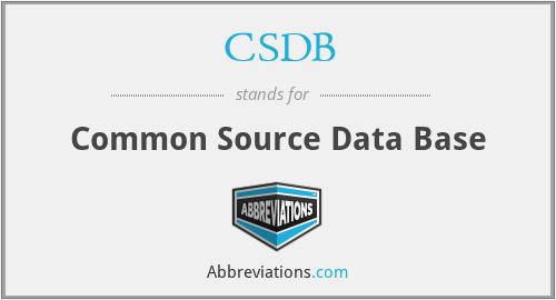 CSDB - Common Source Data Base