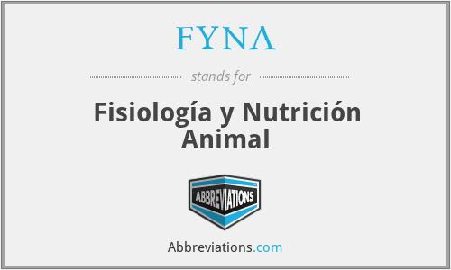 FYNA - Fisiología y Nutrición Animal